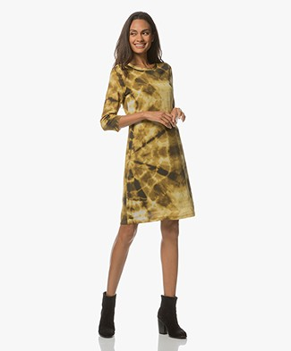 Kyra & Ko Maureen Tie-dye Dress - Gold