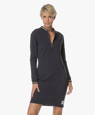 Josephine & Co Aimy Sweater Dress with Zipper - Navy