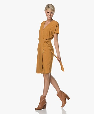 Marie Sixtine Clelie Wrap Dress - Honey
