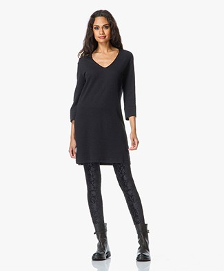 Majestic Tunic Dress in in Cotton-Cashmere