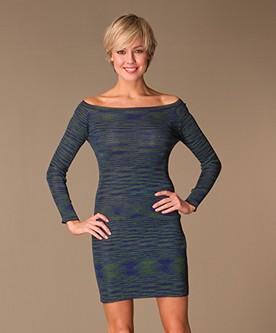 Missoni Dress on Missoni   M Missoni Gestreepte Jurk   Blauw Groen Zwart