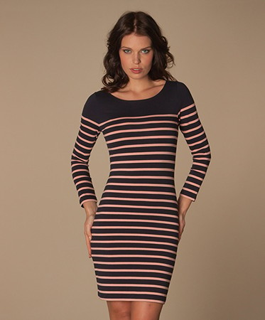 Filippa K - Filippa K Sailor Stripe Jurk - Dark Navy/Melba