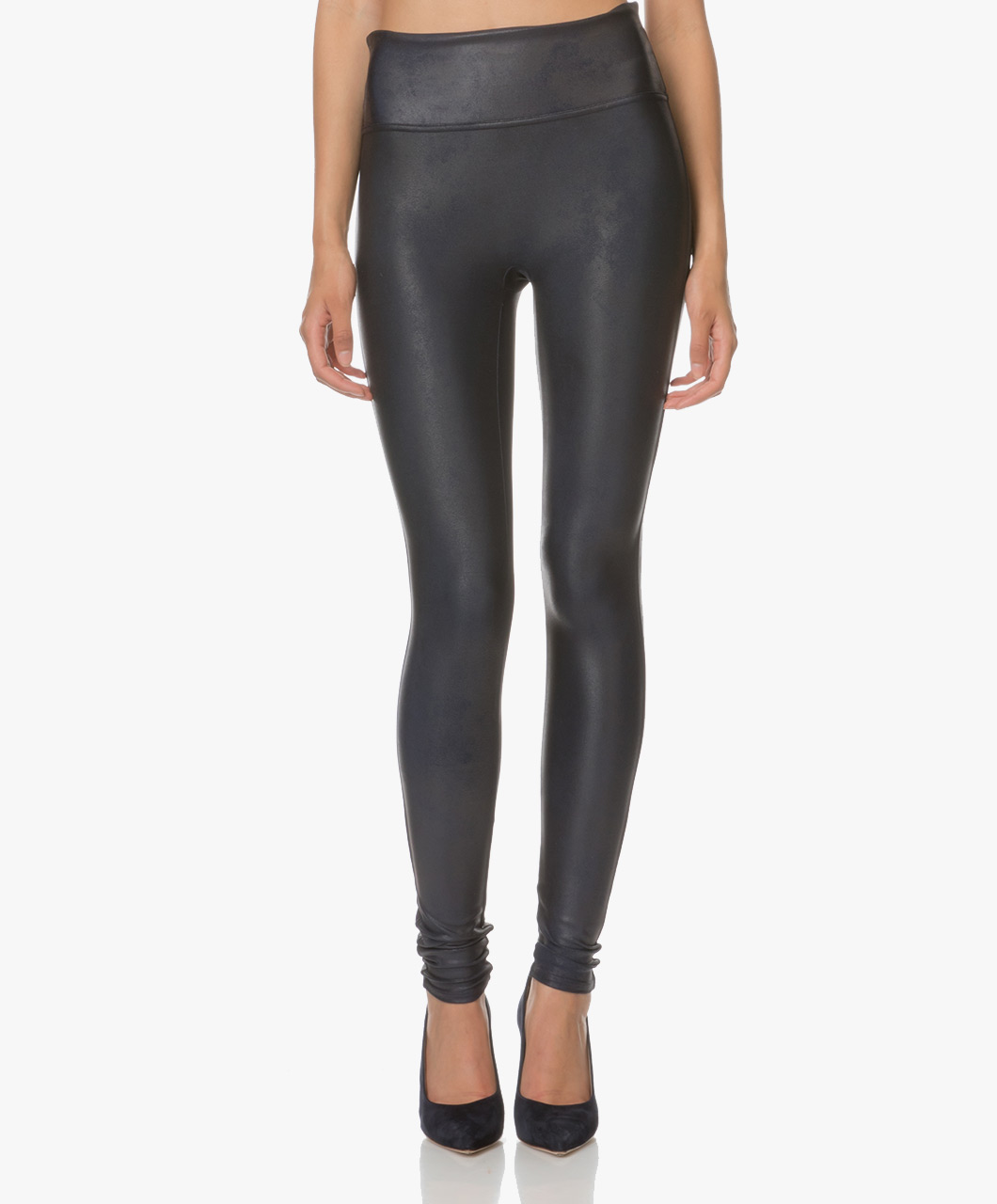 5a95c40af2646 SPANX® Ready-to-Wow! Faux Leather Leggings - Night Navy - spx 2437 545 -  night navy