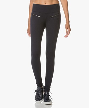 BRAEZ Jersey Slim-Fit Legging - Midnight Blauw