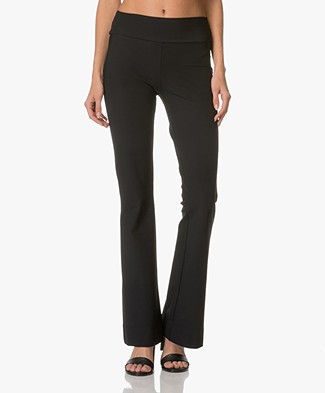 JapanTKY Faya Slim-fit Flared Pants - Black