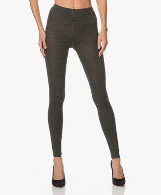 Majestic Soft Touch Jersey Legging - Donkergrijs Mêlee