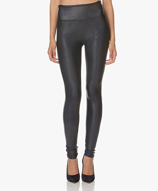 SPANX® Ready-to-Wow! Faux Leather Leggings - Night Navy
