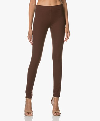 Joseph Gabardine Stretch Leggings - Brown
