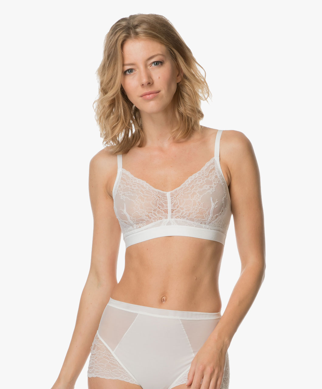 SPANX® Spotlight on Lace Bralette - Clean White