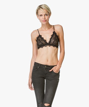 ANINE BING Lace Bra with Trim - Zwart