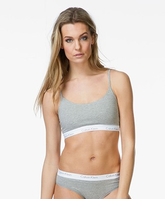 Calvin Klein CK One Bralette - Grey Heather/White