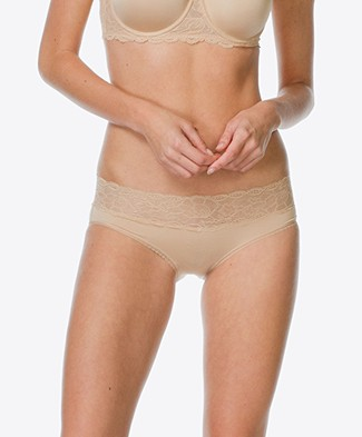 Calvin Klein Seductive Comfort Lace Hipster - Bare