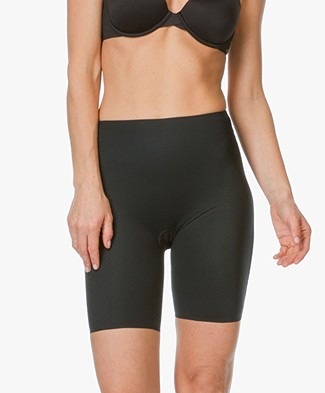 SPANX® Two-Timing Mid-thigh Short - Black/Taupe