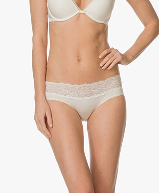 Calvin Klein Seductive Comfort Lace Hipster - Ivory
