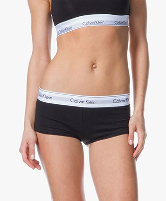 Calvin Klein Modern Cotton Shorts - Black/White