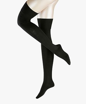 FALKE Seasons Overknee Sokken - Zwart