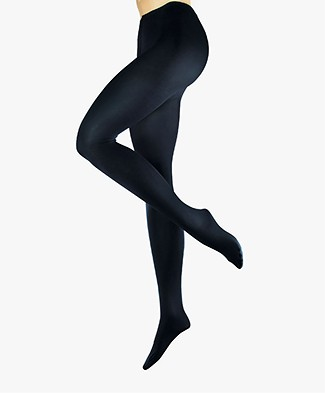 FALKE Cotton Perfection Tights - Marine