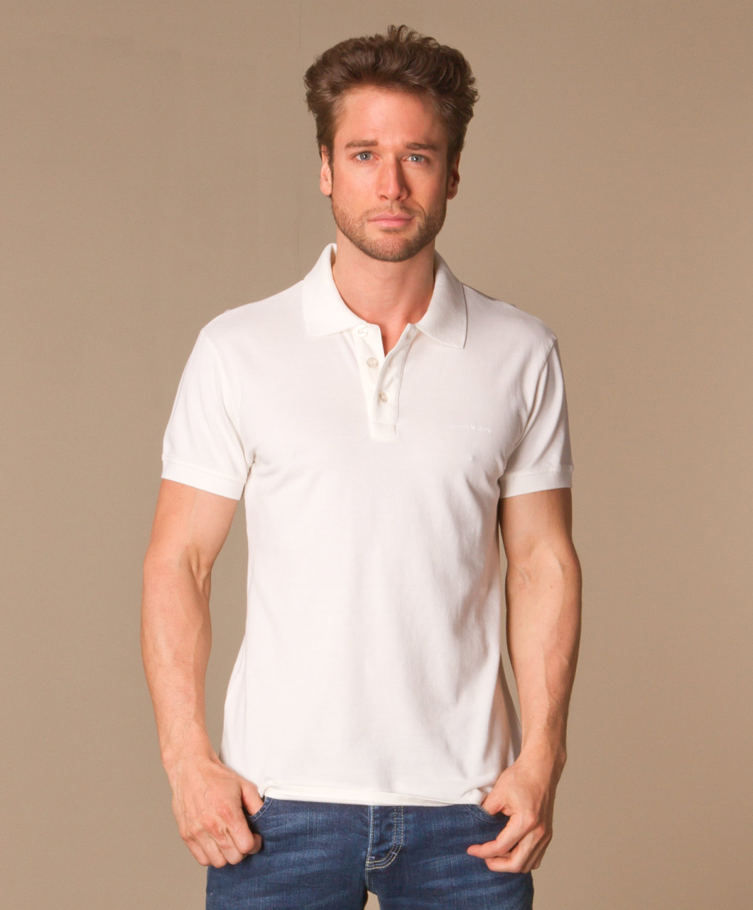 Shop the look asymmetric perfectly basics for Polo shirt and jeans