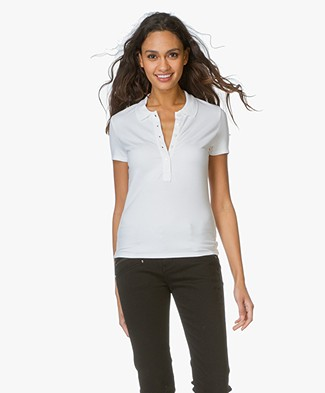 T by Alexander Wang Polo Tee - Ivory