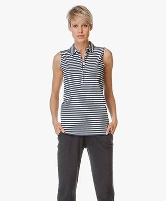 Josephine & Co Sleeveless Polo Eldin - Stripe Jeans