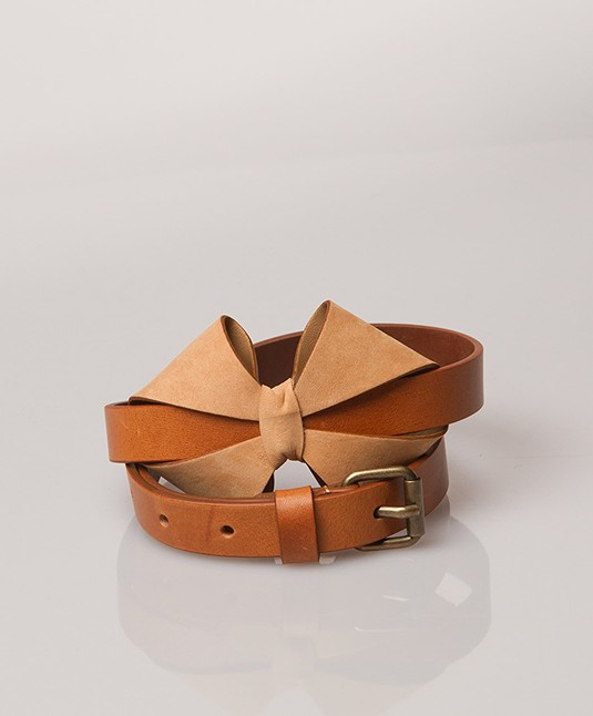See by Chloé Bow Belt - Camel