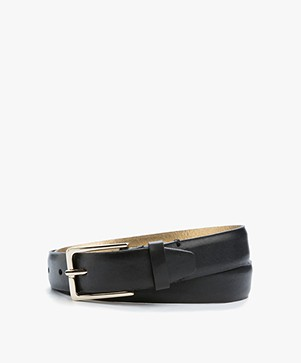 Drykorn Cheeky Leather Belt - Black