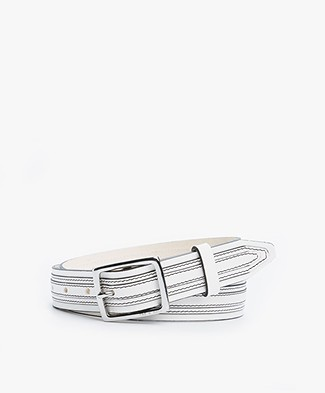 Rag & Bone Teigan Leather Belt - White