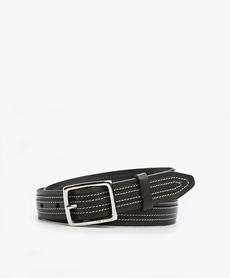 Rag & Bone Teigan Leather Belt - Black