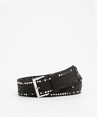Zadig et Voltaire Starlight Leather Belt - Black