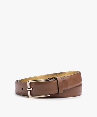 Drykorn Cheeky Leather Belt - Brown