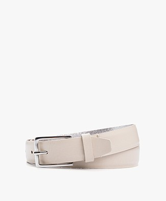 Drykorn Cheeky Leather Belt - Powder