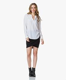 Helmut Lang Nova Jersey Twisted Skirt - Zwart