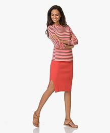 Marie Sixtine Balbine Pencil Skirt - Tomato