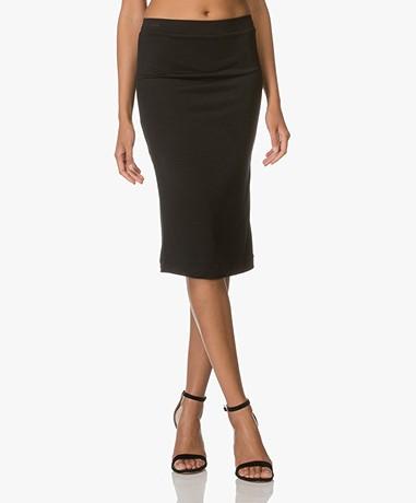 FWSS Envoys Jersey Pencil Skirt - Jet Black