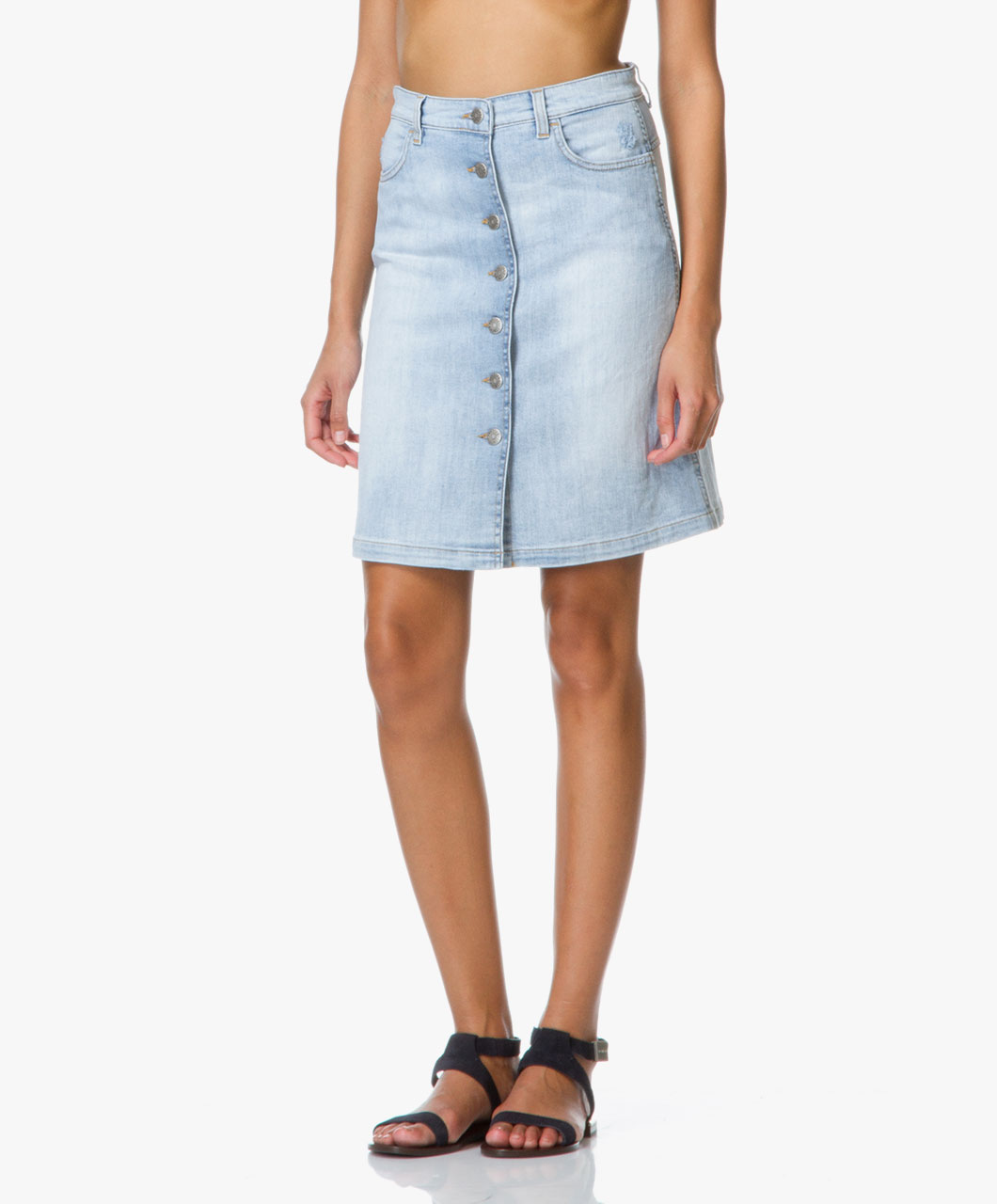 Closed Leah Denim Skirt - Pale Summer Blue - Closed