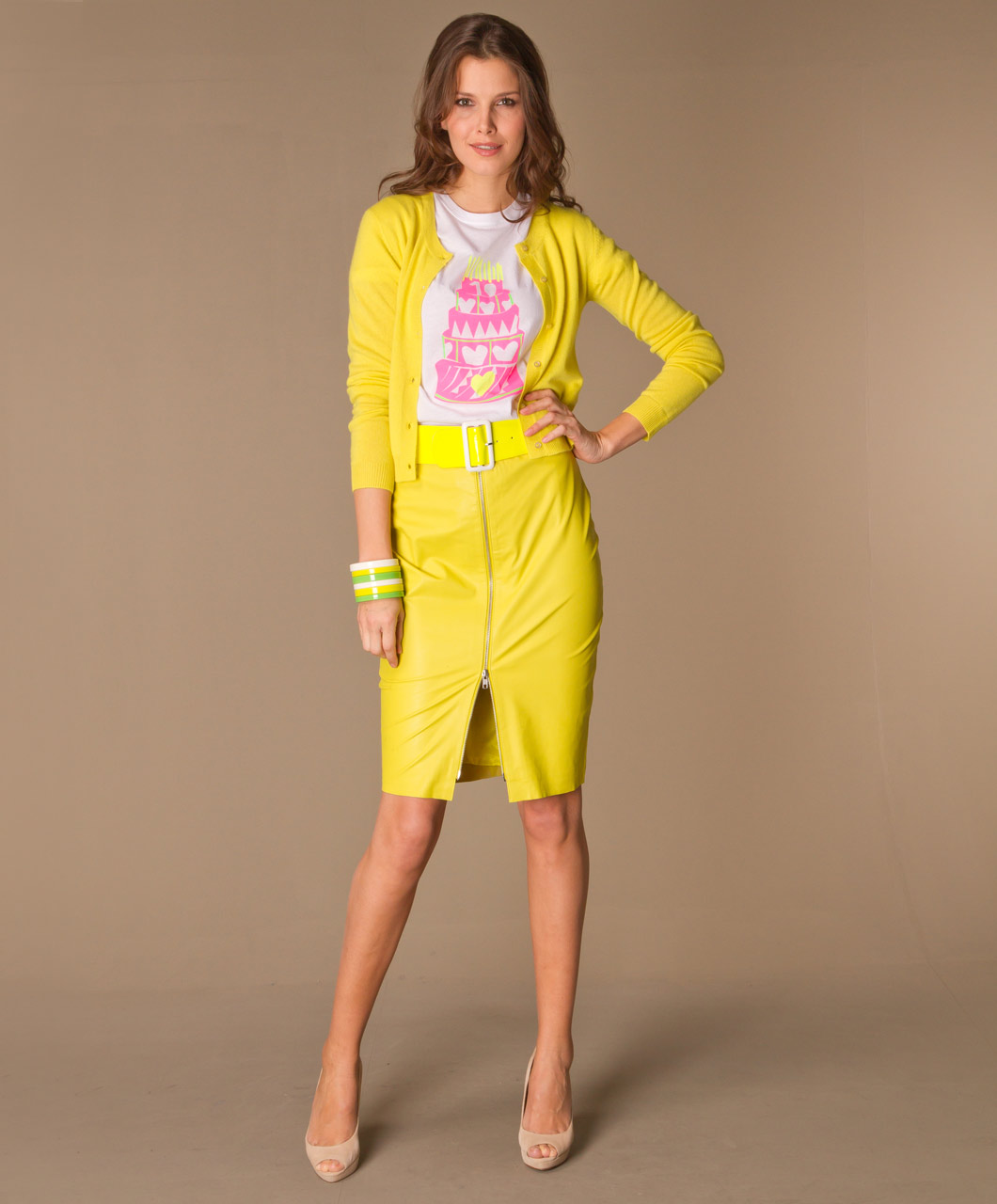 By Malene Birger Eldiuna Skirt - Neon Yellow - By Malene Birger
