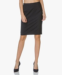 Filippa K Cool Wool Pencil Skirt - Donkerblauw
