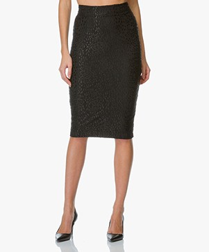 Baukjen Lace Pencil Skirt Cavershame - Black Lace
