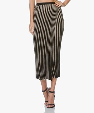 Helmut Lang Pinstripe Skirt - Black