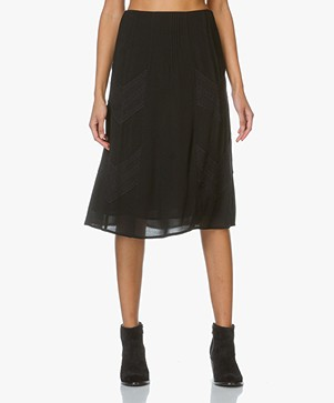IRO Hayett Skirt with Lace - Black