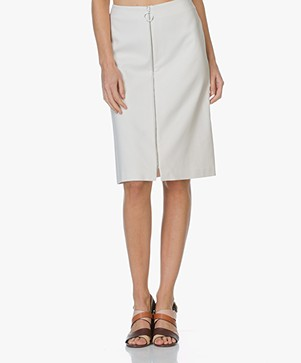 Drykorn A-line Skirt Roxy in Cotton - Off-white