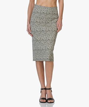 Drykorn Tency Snake Print Skirt - Black