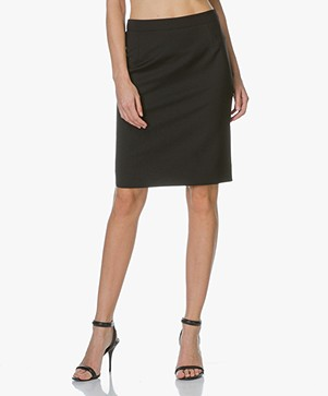 Filippa K Cool Wool Pencil Skirt - Zwart