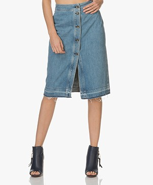 Rag & Bone / Jean Vintage Denim Skirt - Heartwood