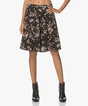 no man's land A-line Floral Printed Dress - Soft Blush