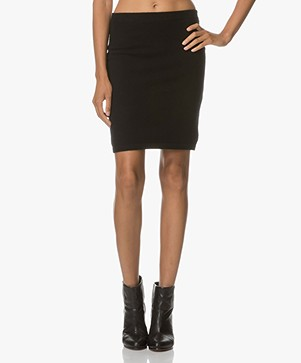 Repeat Cashmere Knitted Skirt - Black