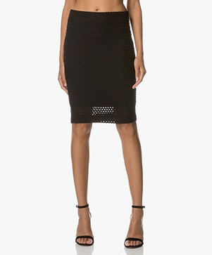no man's land Patterned Pencil Skirt - Core Black