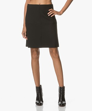 no man's land A-line Skirt - Core Black