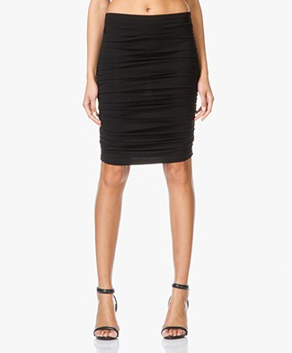Baukjen Karlie Ruched Jersey Skirt - Black