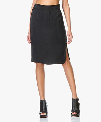 Drykorn Farida Cupro Skirt - Nearly Black